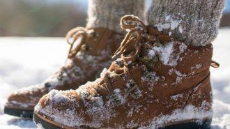 Füße im Winter bei Diabetikern