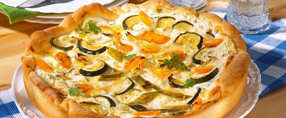 Quiche mit Möhren-Zucchini-Quark