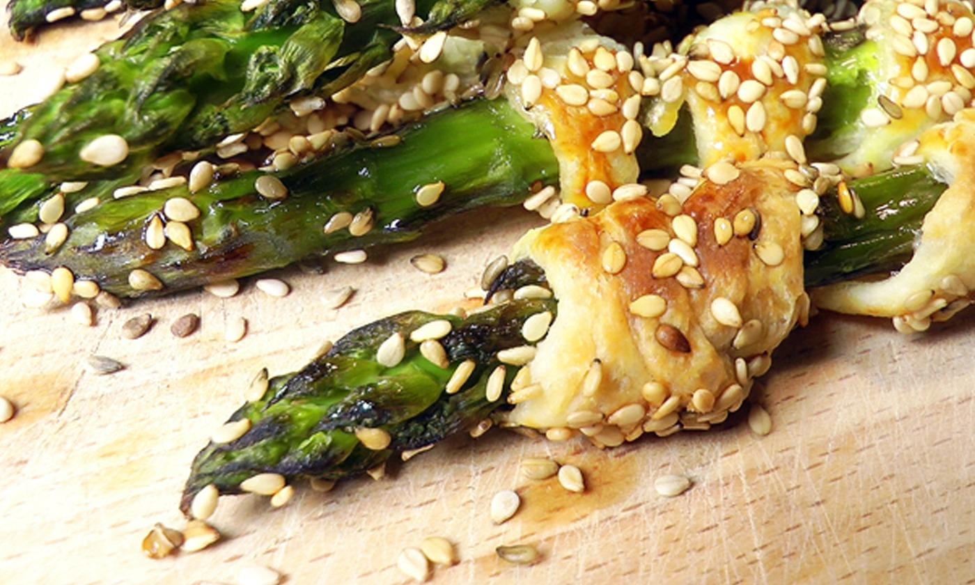 Spargel-Blätterteig-Snack