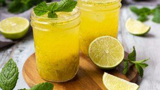 Alkoholfreier Mojito mit Mango