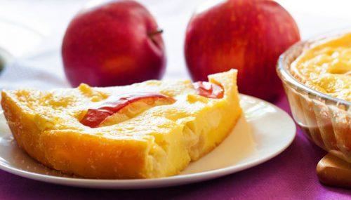 Quarkauflauf mit Äpfeln und Mandelkruste