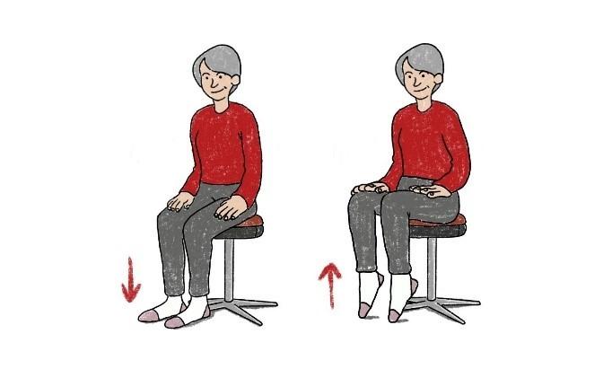 Workout auf dem Stuhl