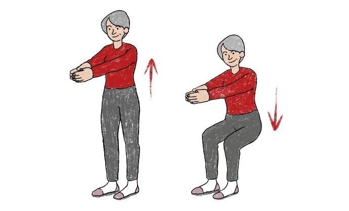 Squats für Bauch, Beine und Po
